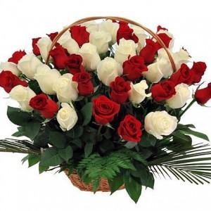 Купить корзину цветов в Красноярске с доставкой – интернет-магазин Ромашково