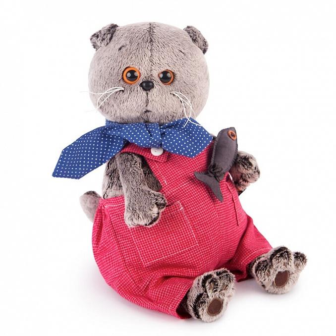 Мягкая игрушка кот Басик в голубой пижаме в цветочек 30 см купить ... | 678x678